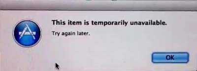 This Item Is Temporarily Unavailable